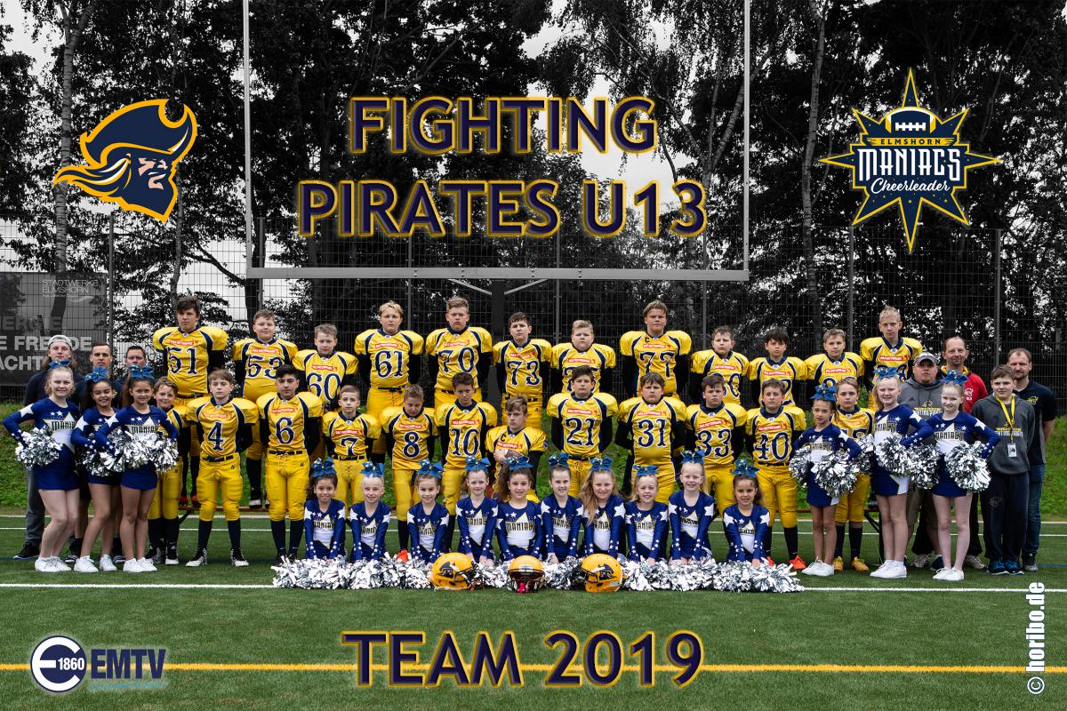 Team 2019 C-Jugend Fighting Pirates U13